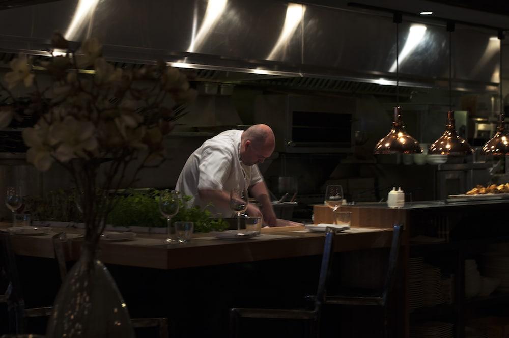 Tim Cuff in his kitchen